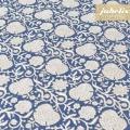 Baumwolle beschichtet strukturiert Alma blau III