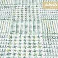 Baumwolle beschichtet strukturiert Eske grün-creme III