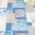 Baumwolle beschichtet abwaschbar Sina blau III