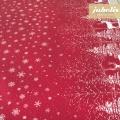 Baumwolle beschichtet strukturiert Winter Landscape rot-natur III
