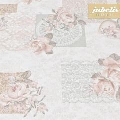 Baumwolle beschichtet strukturiert Gallica rosa III 160 cm x 140 cm Bauerntisch