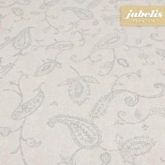 Beschichtete Baumwolle abwaschbar Eileen silber-beige H 110 cm x 140 cm Küchentisch