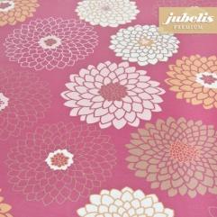 Baumwolle beschichtet abwaschbar Eve pink H 240 cm x 140 cm für Biertische (auf Wunsch geteilt = 2 Decken)
