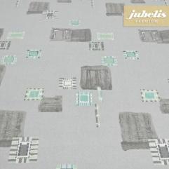 Baumwolle beschichtet abwaschbar Inka grau H 200 cm x 140 cm
