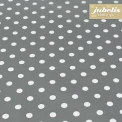 Baumwolle beschichtet abwaschbar kleine Punkte anthrazit III 100 cm x 140 cm