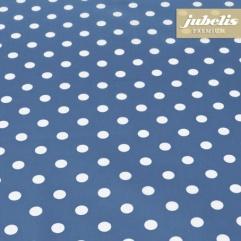 Baumwolle beschichtet abwaschbar kleine Punkte blau III