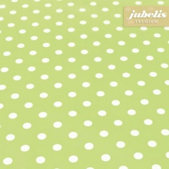 Baumwolle beschichtet abwaschbar kleine Punkte hellgrün III 120 cm x 140 cm