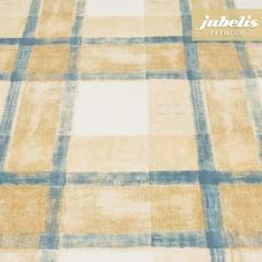 Baumwolle beschichtet abwaschbar Pablo blau-beige H