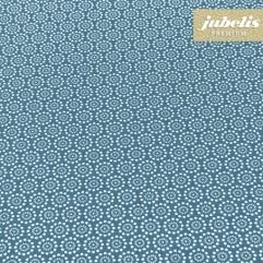 Baumwolle beschichtet abwaschbar Pita dunkelblau III 120 cm x 140 cm