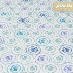 Baumwolle beschichtet strukturiert Aquarell blau III 140 cm Durchmesser rund