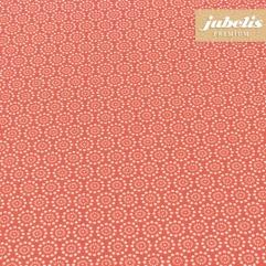 Baumwolle beschichtet abwaschbar Pita rot III 240 cm x 140 cm für Biertische (auf Wunsch geteilt = 2 Decken)