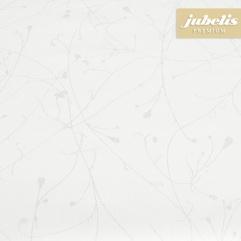 Beschichtete Baumwolle strukturiert Benedetta weiß-silber III