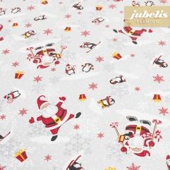 Beschichtete Baumwolle strukturiert Happy Santa Claus III