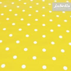 Wachstuch Puntos gelb I 120 cm x 140 cm