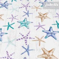 Wachstuch Starfish creme I 140 cm Durchmesser rund