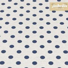 Baumwolle beschichtet strukturiert kleine Punkte dunkelblau III