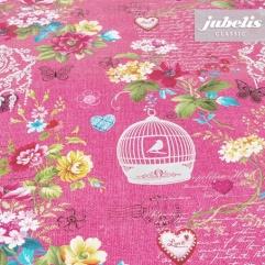 Wachstuch Florentine pink P 150 cm x 140 cm