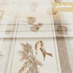Wachstuch extradick mit Gewebe Henley beige H 110 cm x 140 cm Küchentisch