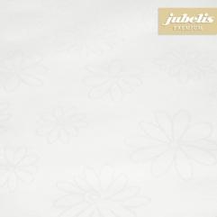 Textiler Luxus-Tischbelag Messina creme  III 170 cm x 140 cm