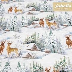 Textiler Luxus-Tischbelag Snow Landscape III