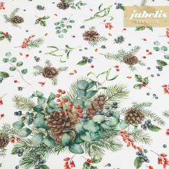 Textiler Luxus-Tischbelag Wintry Arrangement III