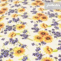 Wachstuch Blumen gelb lila I R