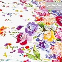 Wachstuch Blumenbordüre I 220 cm x 140 cm