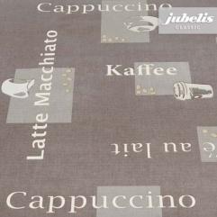 Wachstuch Cappuccino braun H 130 cm x 140 cm