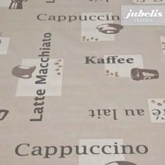 Wachstuch Cappuccino karamel H 160 cm x 140 cm Bauerntisch