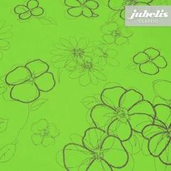 Wachstuch grün mit Blumen M