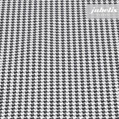 Wachstuch Hahnentritt schwarz M 100 cm x 140 cm