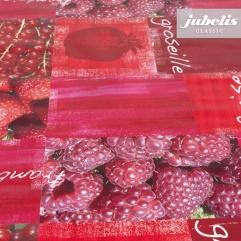 Wachstuch Himbeeren und Erdbeeren P 280 cm x 140 cm