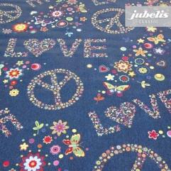 Wachstuch Lovely jeansblau H R
