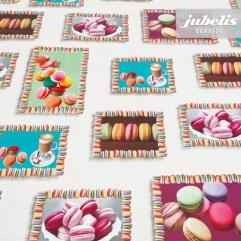 Wachstuch Macarons P 110 cm x 140 cm Küchentisch