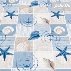 Wachstuch Marina blau M 250 cm x 140 cm