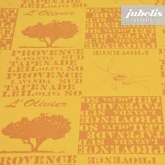 Wachstuch Provence orange H 130 cm x 140 cm
