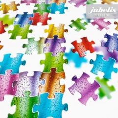Wachstuch Puzzle I 500 cm x 140 cm