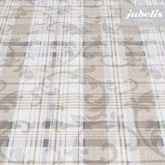 Wachstuch Violetta beige H 240 cm x 140 cm für Biertische (auf Wunsch geteilt = 2 Decken)