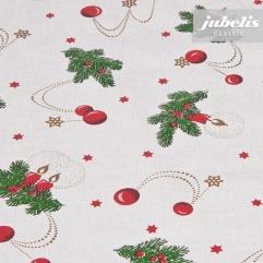 Wachstuch Weihnachten beige M 250 cm x 140 cm