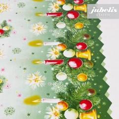 Wachstuch Weihnachten Kugeln bunt M 110 cm x 140 cm Küchentisch