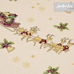 Wachstuch Weihnachten Rentier-Schlitten M 110 cm x 140 cm Küchentisch