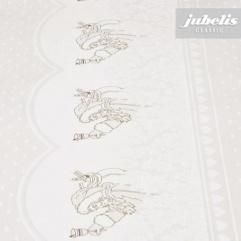Wachstuch Weihnachten weiß-silber M 110 cm x 140 cm Küchentisch