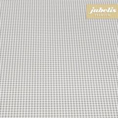 Wachstuch extradick mit Gewebe Vichy grey H 110 cm x 140 cm Küchentisch