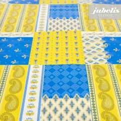 Wachstuch Lisander blau-gelb I