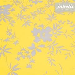 Wachstuch Blatt-Muster gelb P