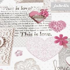 Wachstuch Vintage Love rosé II