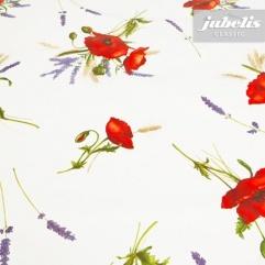 Wachstuch Mohnblüten P 160 cm x 140 cm Bauerntisch