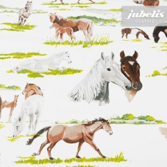 Wachstuch Pferde II 100 cm x 140 cm