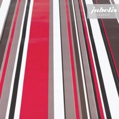 Wachstuch Streifen schwarz-rot-weiß I