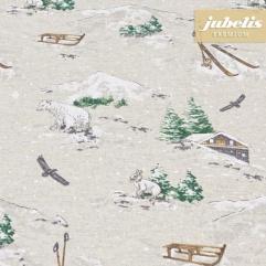 Baumwolle beschichtet strukturiert Wintry natur III 100 cm x 140 cm